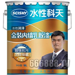 水性润泽金装内墙乳胶漆产品包装图片