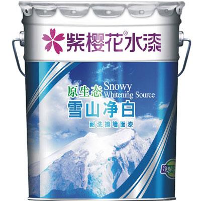 原生态雪山净白耐洗擦墙面漆