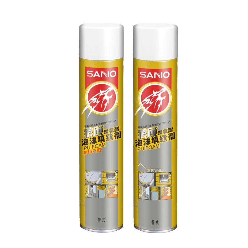 三和发泡胶 粘合固定安装隔声保温隔热密封防潮三和聚氨酯泡沫填缝剂