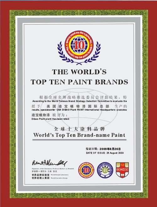 全球十大涂料品牌