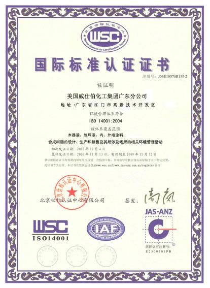 国际标准认证书