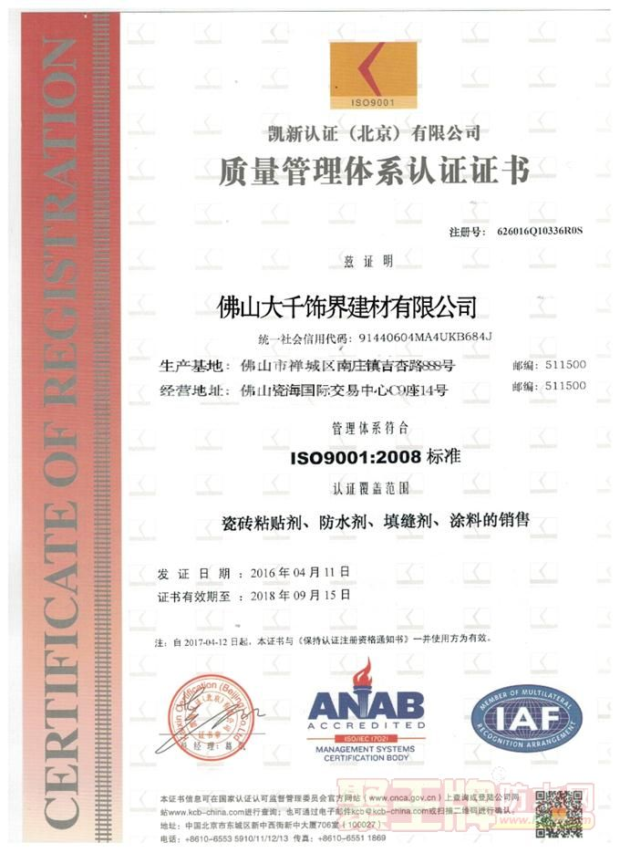 ISO9001:20