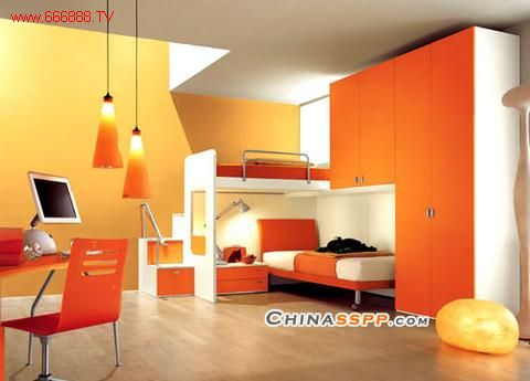 橙色家具应搭配什么颜色的墙