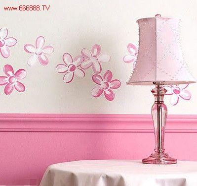 可爱儿童手绘背景墙 成居室精致的亮点(图)