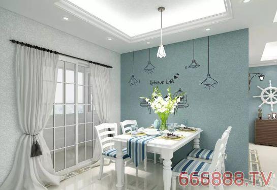 秀色可餐的硅藻泥餐厅背景墙,让时尚的装修效果为餐厅添彩,柔美的墙面