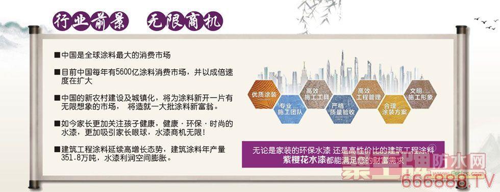 紫樱花涂料新品:606建筑胶水高分子环保型