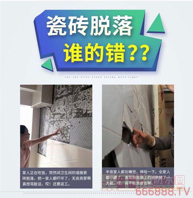 瓷砖脱落谁的错?壁力虎粘结剂让您选离家装伤害