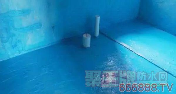 防水涂料施工效果