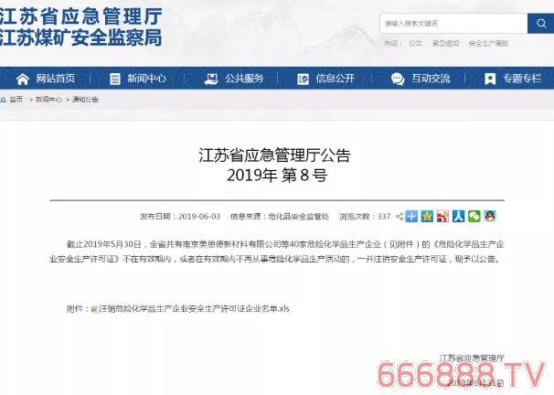 多家涂料企业在列!江苏等多个省市83家危化品生产企业安全生产许可证被注销!(附名单)