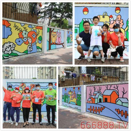 用孩子的画为上海社区添彩 立邦组织公益志愿者墙绘公益活动